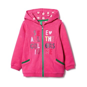 Benetton - Zerododici - Sweat à capuche - rose