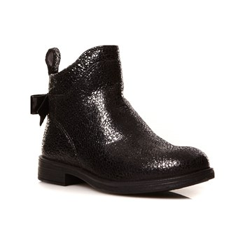 Geox - Bottines en cuir - noir