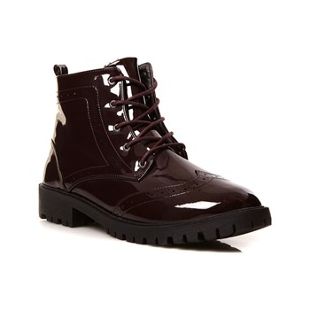 Vero Moda - Bottines - wijnrood