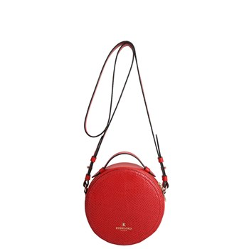 Kesslord - Mini gongle - Sac bandoulière en cuir - rouge