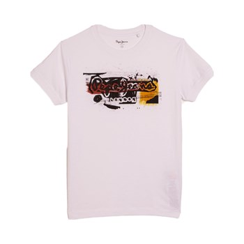 Pepe Jeans London - Milton - Kurzärmeliges T-Shirt - weiß