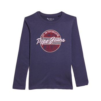 Pepe Jeans London - Jin Jr - T-shirt manches longues - bleu