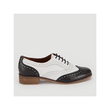 Monoprix - Derbies en cuir - bicolore