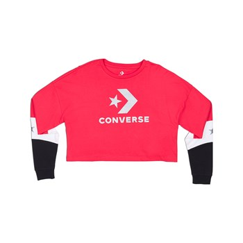 Converse - Colorblock - Sweat-shirt - rouge