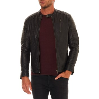 Jack & Jones - Richard - Lederjacke - schwarz