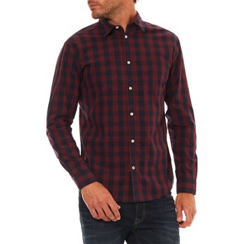 Jack & Jones - Gingham - Overhemd met lange mouwen - bordeaux