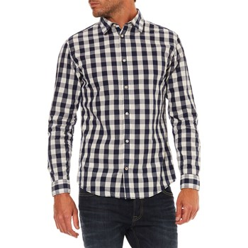 Jack & Jones - Gingham - Langärmeliges Hemd - blau
