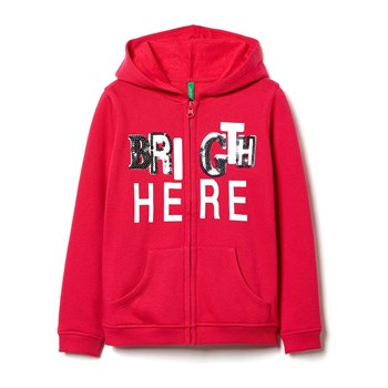 Benetton - Zerododici - Sweat à capuche - rouge