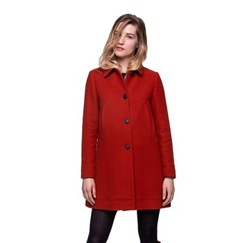 Trench and coat - Manteau 76% laine - rouge