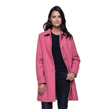 Trench and coat - Manteau 75% laine - rose