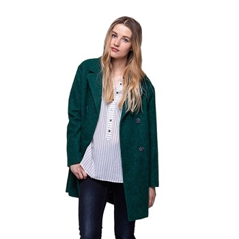 Trench and coat - Manteau en laine mélangée - vert
