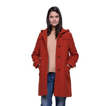 Trench and coat - Manteau 75% laine reliefé - rouge