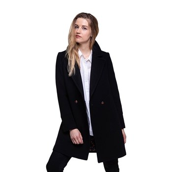 Trench and coat - Manteau 76% laine - noir