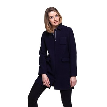 Trench and coat - Manteau 76% laine - bleu