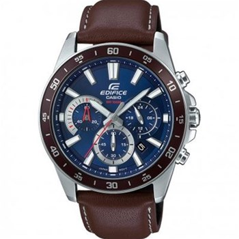 Casio - edifice - Montre analogique en cuir - marron
