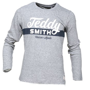 Teddy Smith - Tobin retro ml - T-shirt manches longues - gris