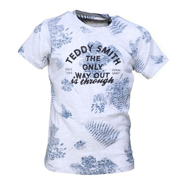 Teddy Smith - Tony floral mc - T-shirt manches courtes - blanc