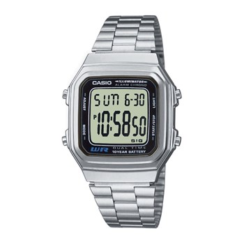 Casio - Retro Vintage - Montre digitale - gris métallisé