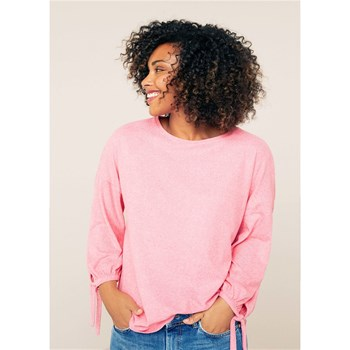 Violeta by Mango - T-shirt manches nœuds - rose
