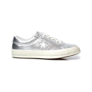 Converse - One star - Baskets - gris métallisé