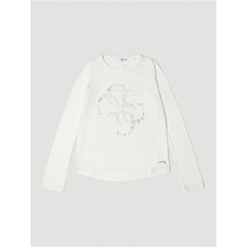 Guess Kids - T-shirt logo clous - blanc