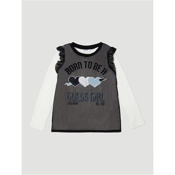Guess Kids - T-shirt imprimé frontal - bicolore