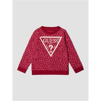 Guess Kids - Sweat-shirt imprimé animalier logo - rouge