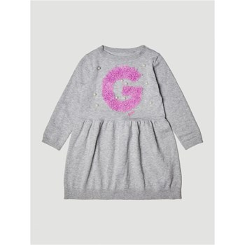 Guess Kids - Robe logo perles - gris clair