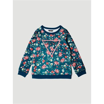 Guess Kids - Sweat-shirt logo triangle imprimé - vert
