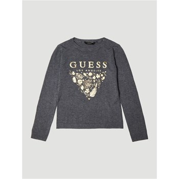 Guess Kids - Pull logo frontal - gris