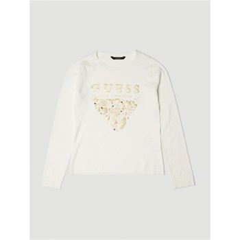 Guess Kids - Pull logo frontal - blanc