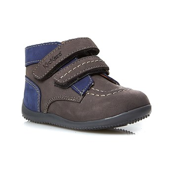 Kickers - Bonkro - Baskets en cuir - gris clair