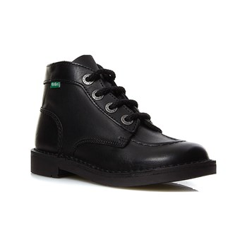 Kickers - Kick col - Bottines en cuir - noir