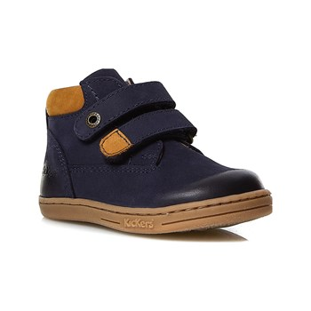 Kickers - Tackeasy - Scarponcini in pelle - blu scuro