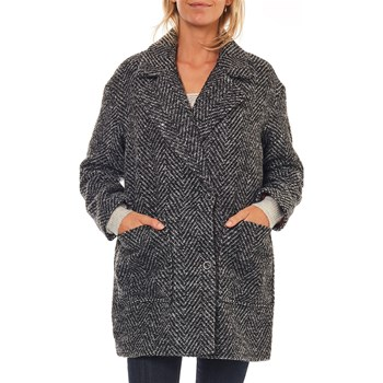 Only - Manteau 25% laine - noir