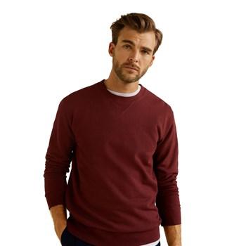 Mango Man - Sweat-shirt coton sans capuche - bordeaux