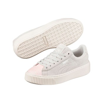 Puma - Glam - Baskets en cuir - gris clair