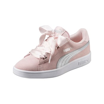 Puma - Smash - Baskets en cuir - rose