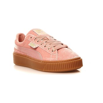 Puma - Platform Vs Wns - Baskets en velours - rose