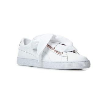 Puma - Suede heart leather - Leren gympen - wit