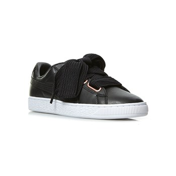 Puma - Suede heart leather - Leren gympen - zwart