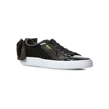 Puma - WN Suede Bow Patent - Baskets - noir
