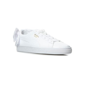 Puma - WN Suede Bow Patent - Baskets - blanc