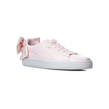 Puma - WN Suede Bow Patent - Baskets - rose