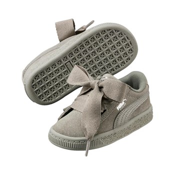 Puma - PS suede heart SNK - Baskets en cuir - gris