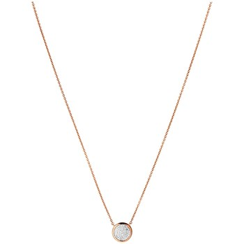 Links of London - Collier et pendentif en or et en argent avec diamants - rose