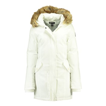 Geographical Norway - Dinasty 001 - Parka avec capuche imitation fourrure - blanc