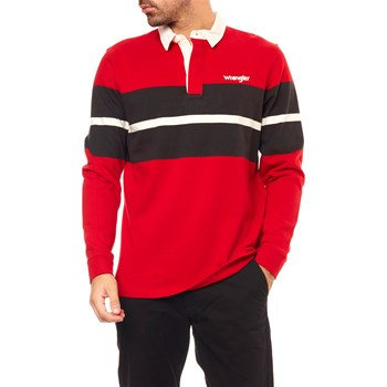 Wrangler - Ls Rugby - Polo manches longues - rouge