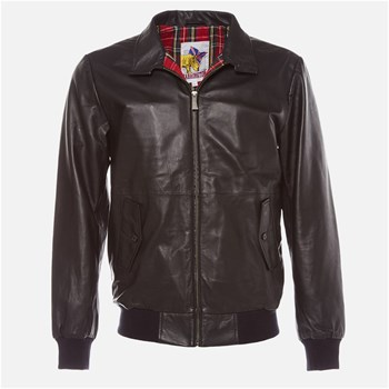 Harrington - Johnny - Blouson en cuir - noir