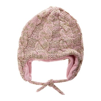 Benetton - Bonnet cache-oreille pailletté - rose